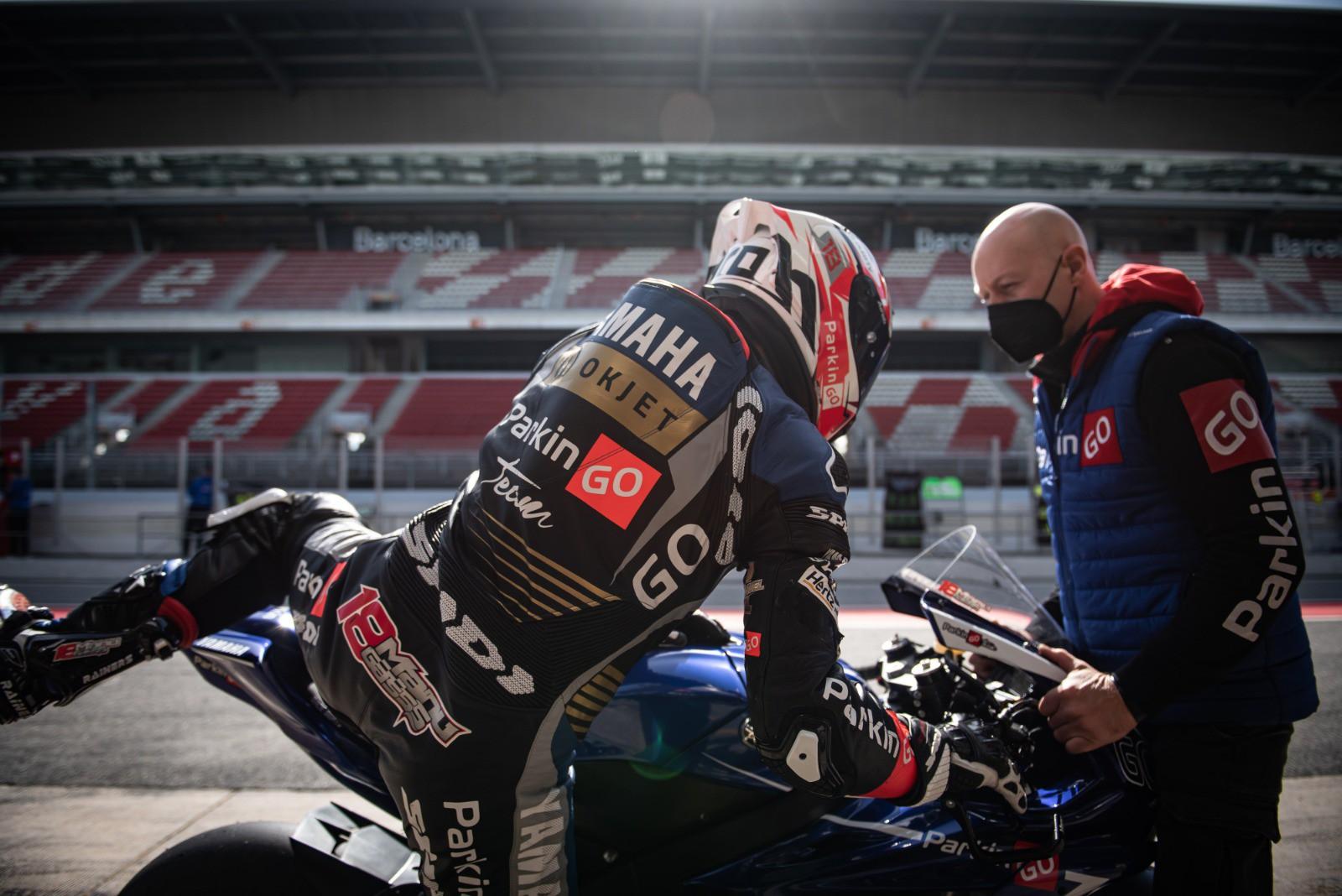 WSSP test Barcellona: Manuel Gonzalez subito veloce con la ParkinGO Yamaha in conformazione CIV