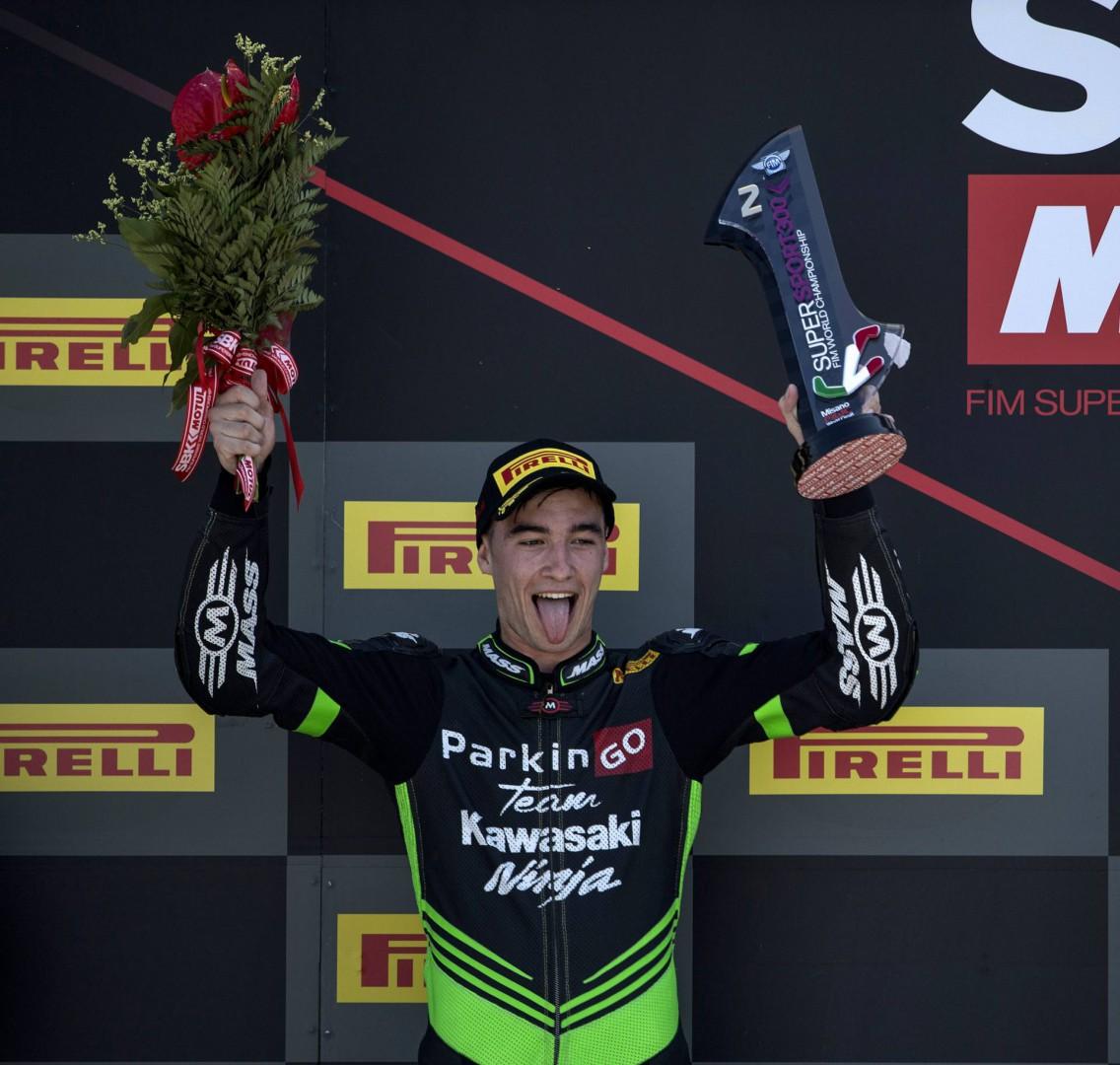 WSSP300 Riviera di Rimini: Mika Perez secondo con la Ninja del ParkinGO Kawasaki